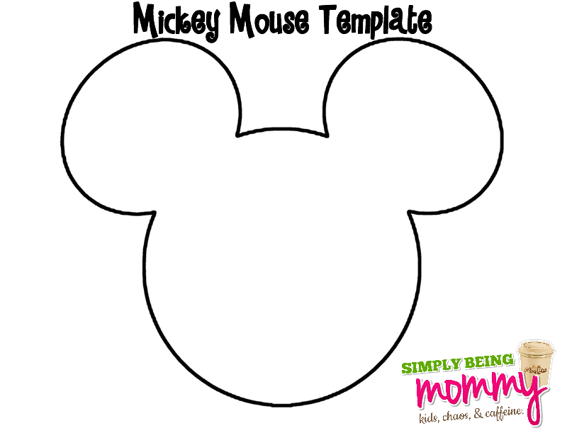 Smart image for mickey mouse outline printable