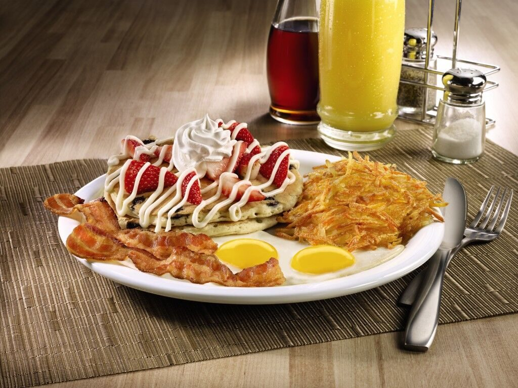 Celebrate Independence Day: Resurgence with the new Red, White & Bacon menu at Denny's this spring.