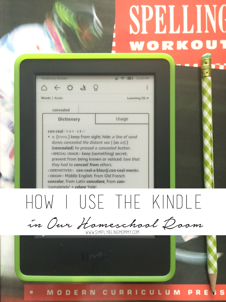 Do you homeschool or want to be more involved in your child's learning. See how I use the Kindle in our homeschool room.