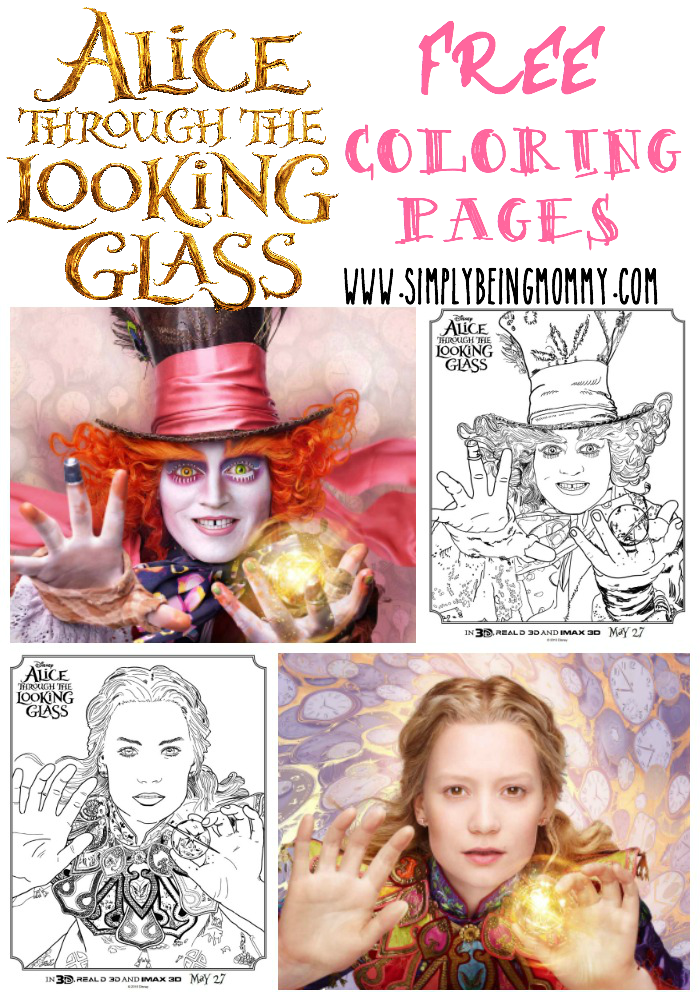 Alice Through the Looking Glass coloring pages, plus more. Get free Disney movie coloring pages here for free with instant download.