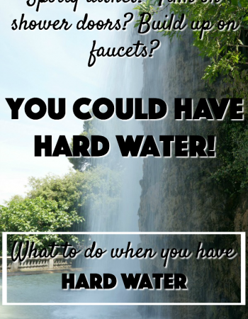 Are you noticing spots on your glasses? Or film on your shower doors? Or build up on your faucets. What to do when you have hard water.