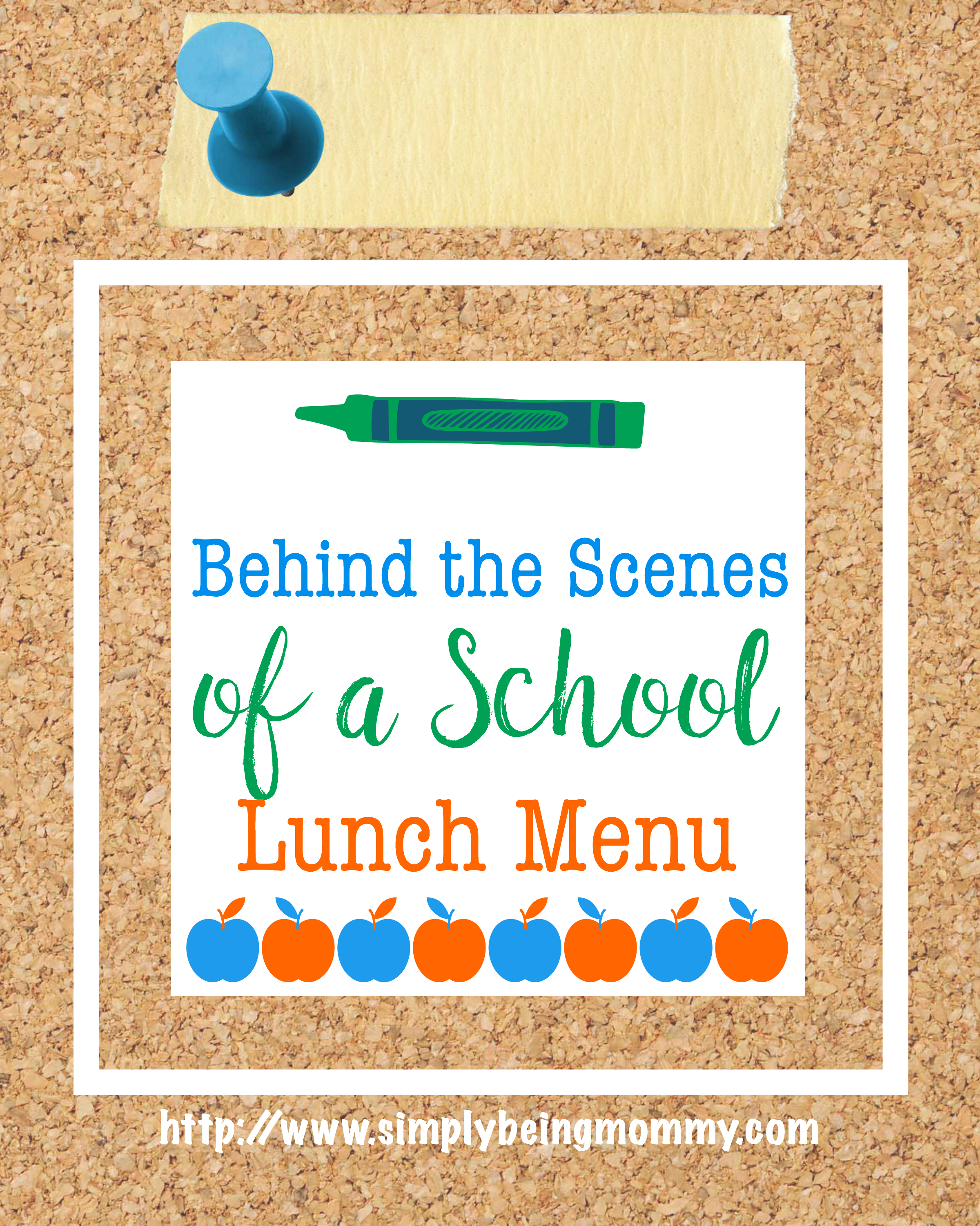 I think you may be surprised at the behind the scenes of a school lunch menu. I know I was.