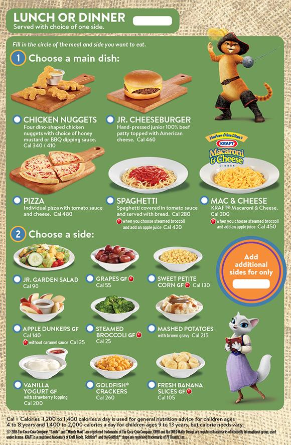 kids eat free at dennys promotion