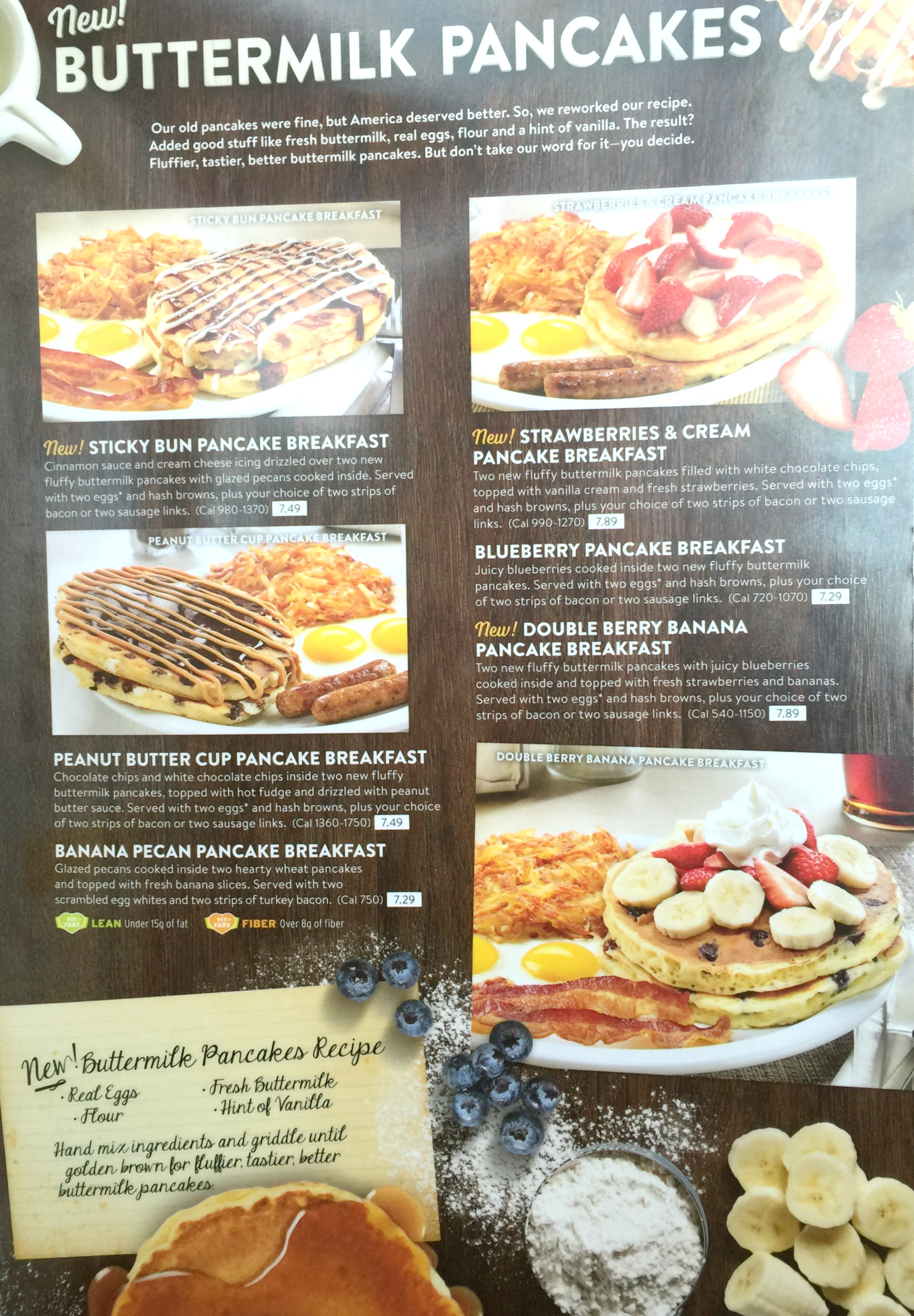 New pancakes at Denny's // Enjoy delicious, fluffy pancakes at Denny's.