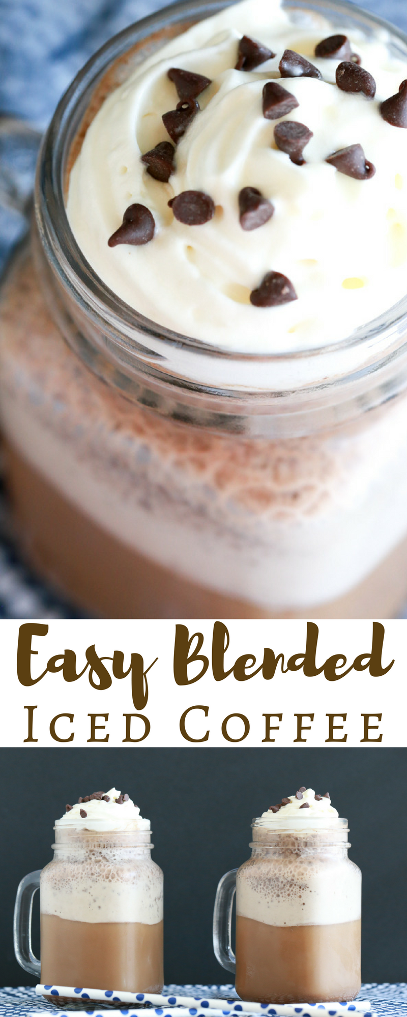 I don't care what the weather is like outside. I'm always game for this Easy Blended Iced Coffee recipe. So easy to make and so delicious.