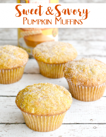 Such a great way to enjoy pumpkin puree. These sweet and savory pumpkin muffins are not only delicious, but nutritious too!