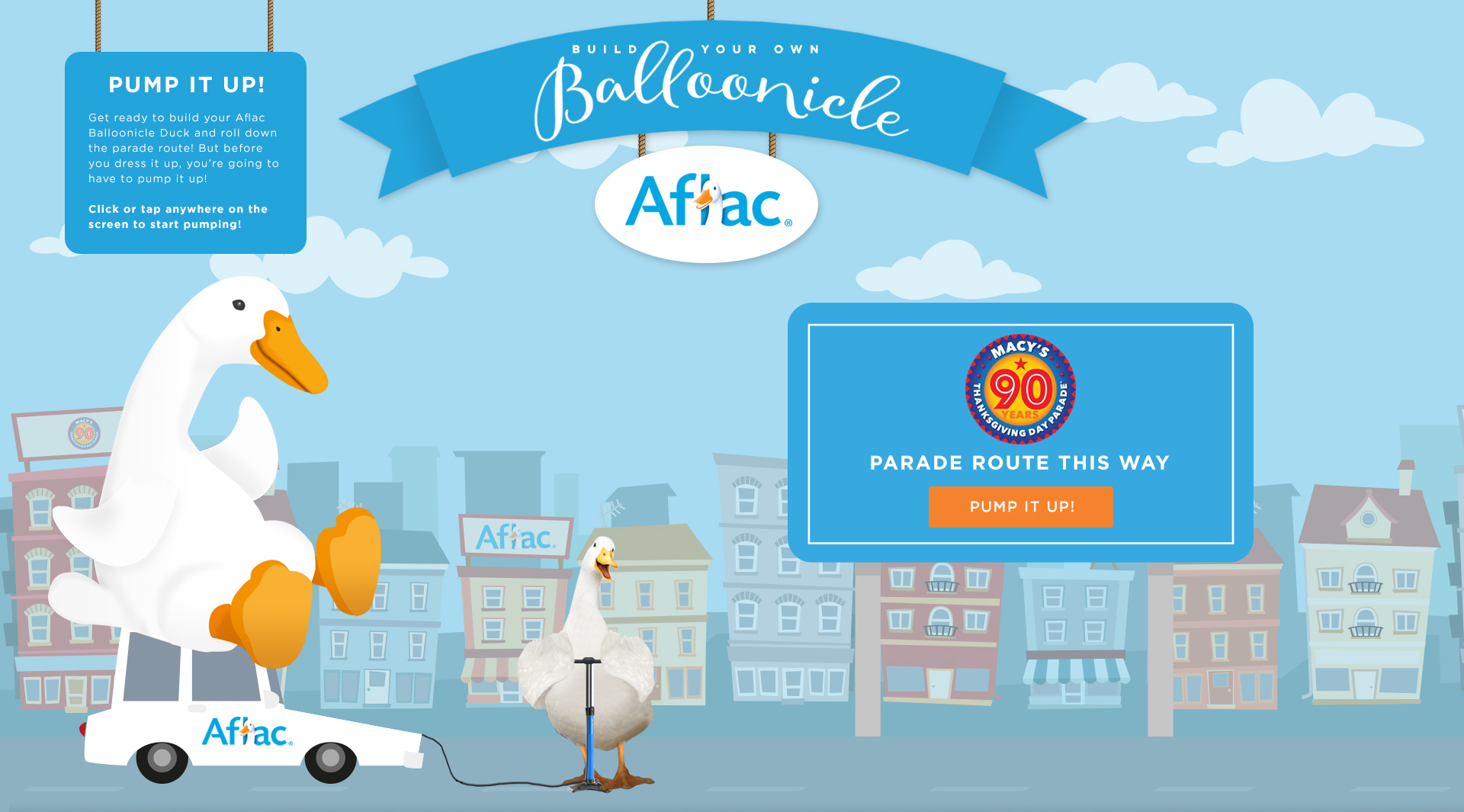 Join Aflac in the fight against childhood cancer and create your very own balloonicle in the Build Your Own Balloonicle game developed by Aflac.
