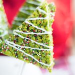 It's Christmas time in the City. Celebrate with these adorably festive Christmas Tree Rice Krispies Treats.