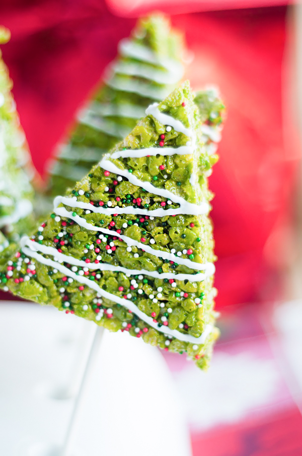 Christmas tree rice krispies treats simply being mommy for Some good christmas treats to make