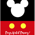 Days Until Disney Printable