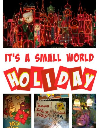 "It's a world of laughter, a world of tears. A world of hope and a world of fears. It's a world of 20 years of ""it's a small world"" holiday ride at Disneyland!"