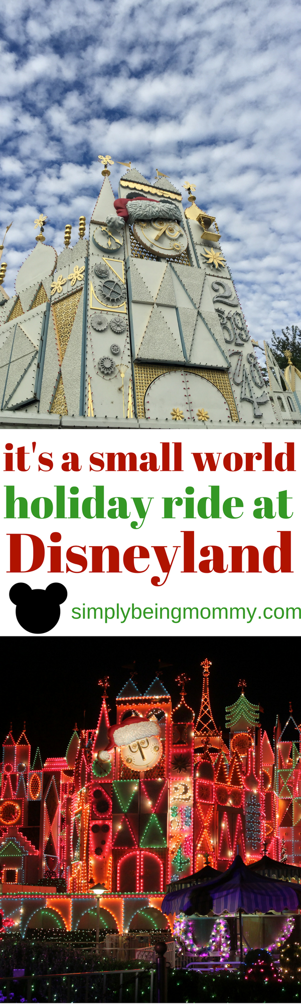 It's a world of laughter, a world of tears. A world of hope and a world of fears. It's a world of 20 years of it's a small world holiday ride at Disneyland!