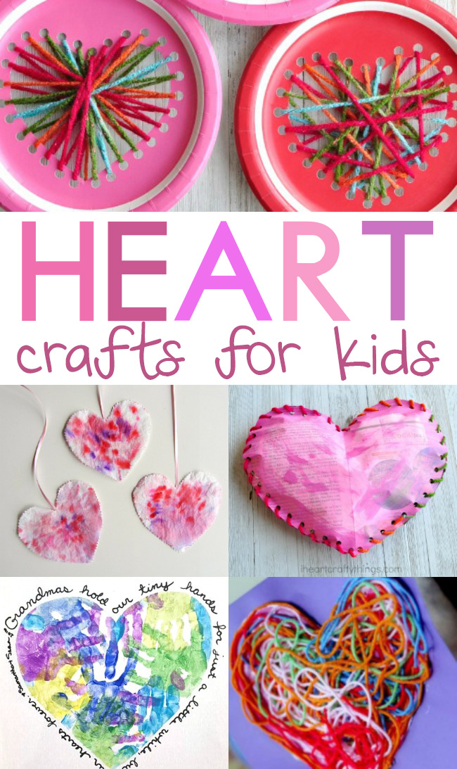 If you feel like January just flew by, slow down a bit in February, sit down with your children, and make some of these heart crafts for kids.