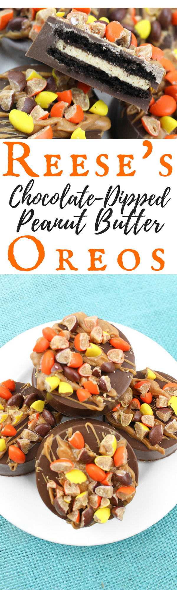 When the flavors of these Reese's Chocolate Dipped Peanut Butter Oreos hit your tongue, all will be well with the world. At least until you're done eating them.