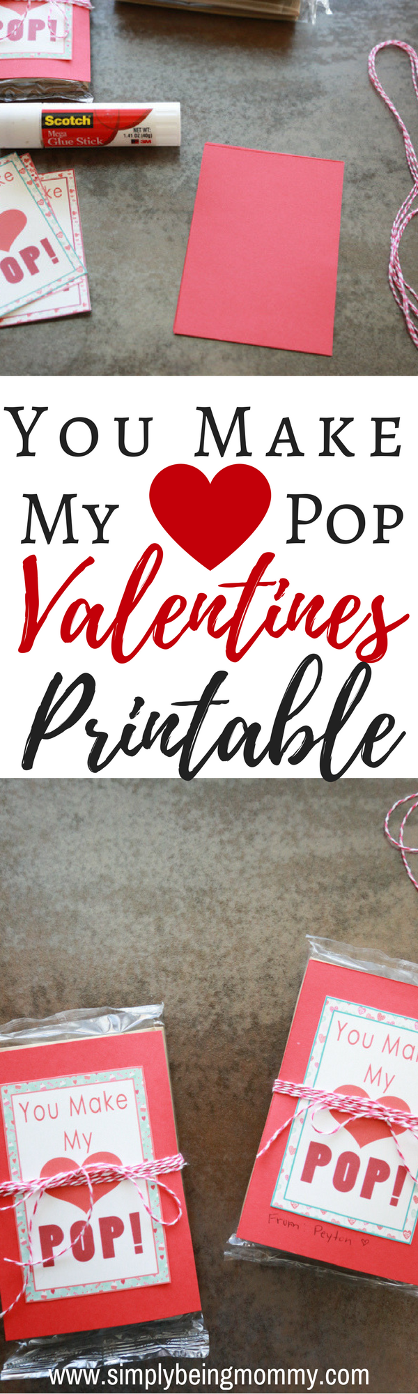 photo relating to Popcorn Valentine Printable called By yourself Produce My Center Pop Valentines + Printable Very easily Becoming
