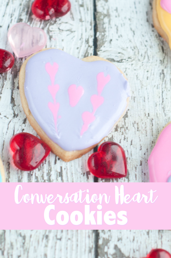 Love those little Conversation Heart Candies? Then you'll love these Conversation Heart Cookies that are perfect for Valentine's Day.