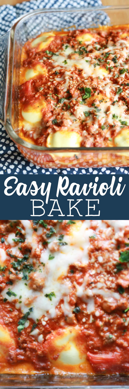 Easy Ravioli Bake recipe
