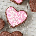 Heart Shaped Frosted Brownies