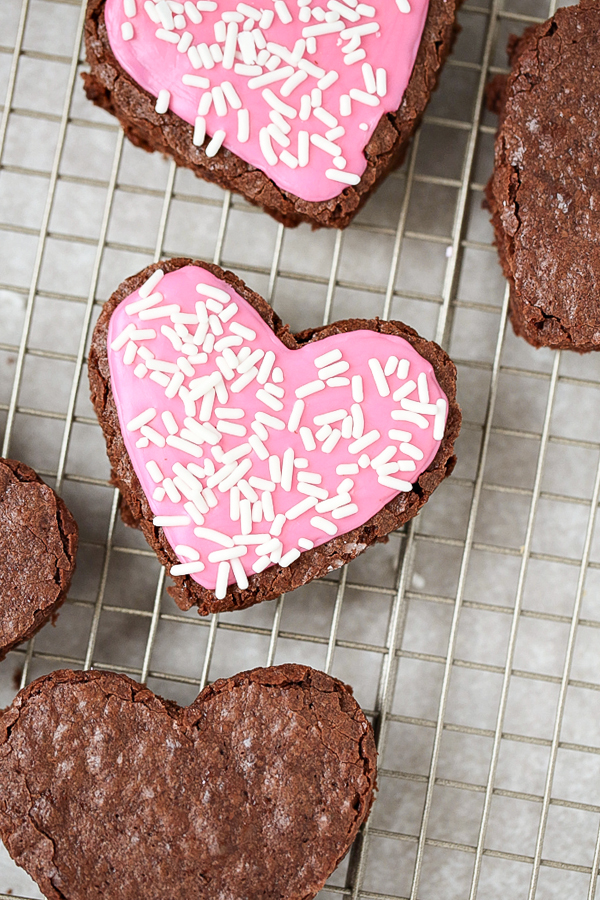 With Valentine's Day right around the corner, these Heart Shaped Frosted Brownies make for a decadent dessert to share with your loved ones.
