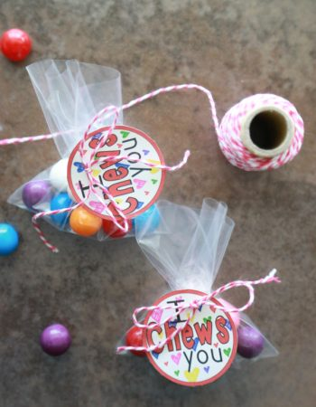 Although Valentine's Day is quickly approaching, you still have time to make these adorable I Chews You Valentines Printables.