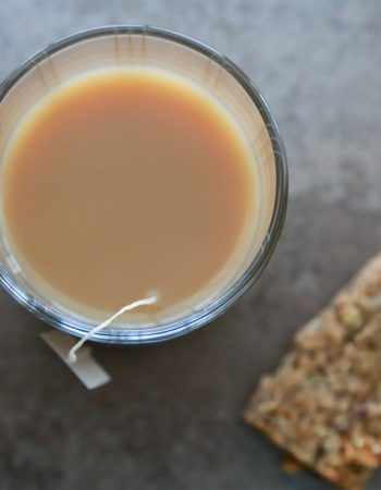 Not your traditional tea, but from what I've learned, the British enjoy much different than we do. See how to make a delicious cup of Vanilla Milk Tea.