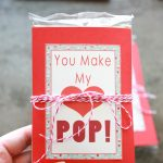 """You Make My Heart Pop"" Valentines + Printable"