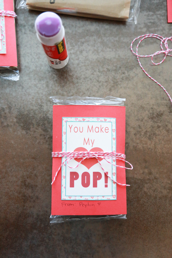 You Make My Heart Pop Valentines printable
