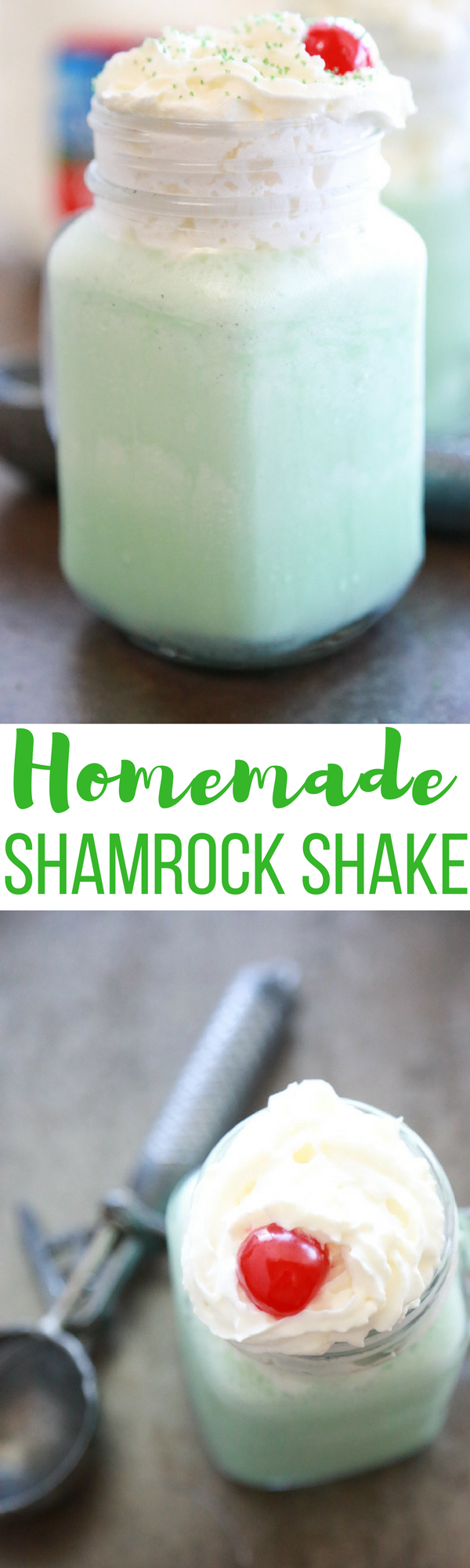 Love McDonald's Shamrock Shake? Try this cheaper Homemade Shamrock Shake that you can make right in your own kitchen.