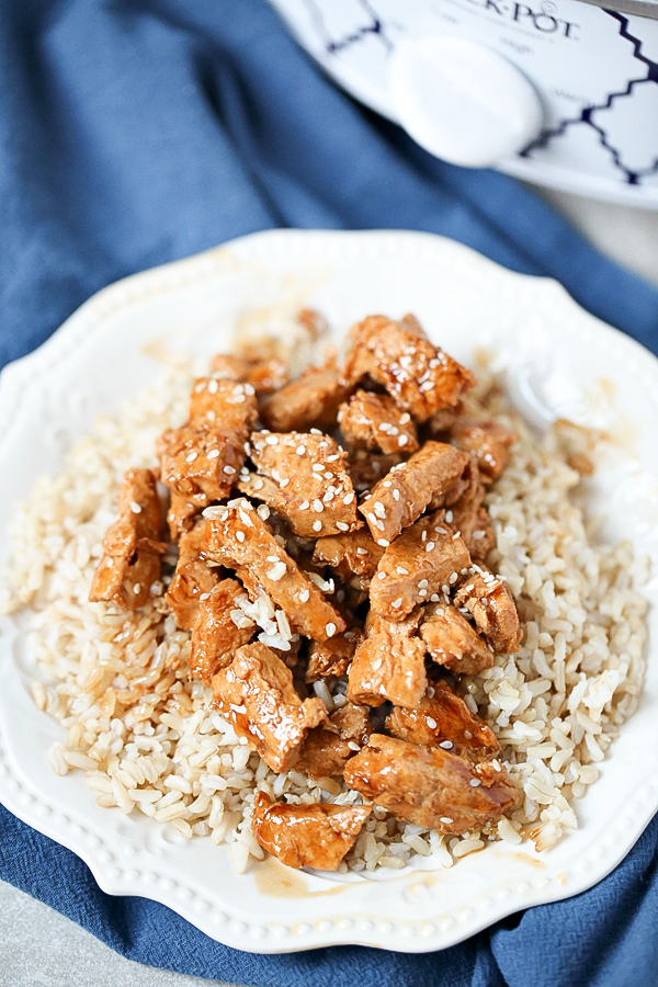 Easy slow cooker recipes, like this Easy Slow Cooker Chicken Teriyaki, make dinner time much more manageable and a whole lot less stressful.