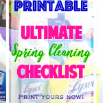 Ultimate Spring Cleaning Checklist – Free Printable