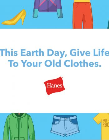 Give new life to your old clothes through this Earth Day project with Hanes and Give Back Box.
