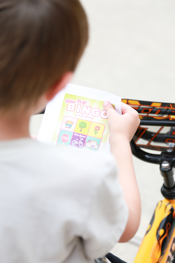 Teach your children how to play bike trip bingo and enjoy hours of outdoor play.