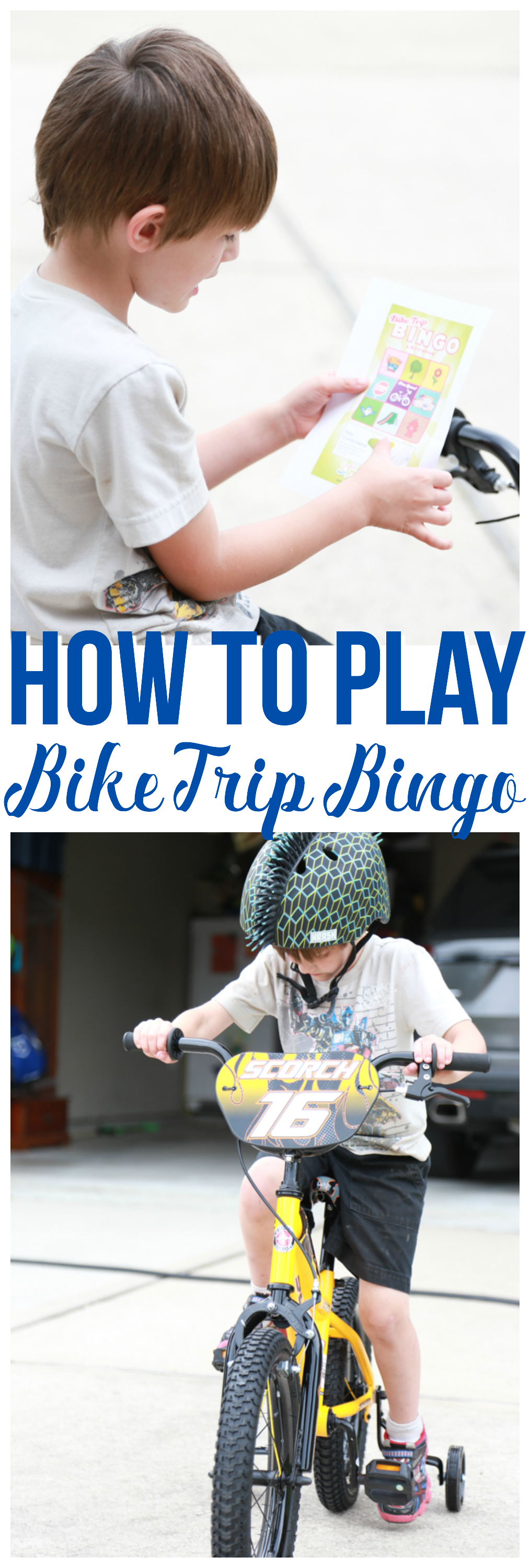 If you don't know how to play Bike Trip Bingo, it's time to learn. Get ready for a fun-packed search to find all the objects on your bingo card.