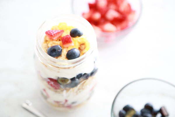 A parfait bar is a perfect breakfast option for picky kids. Have them make their own Berry Breakfast Parfait just the way THEY like it.