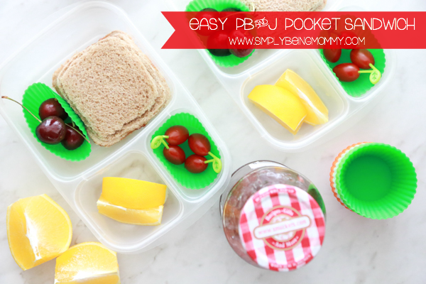 Help them power through their day with a super Easy PB&J Pocket Sandwich on wheat bread.