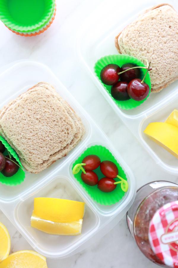Help them power through their day with a super Easy PB&J Pocket Sandwich on wheat bread.