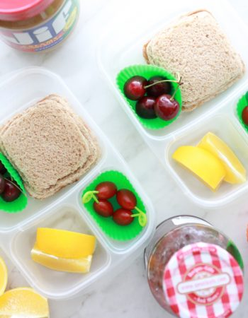 Help them power through their day with these super Easy PB&J Uncrustables on wheat bread.