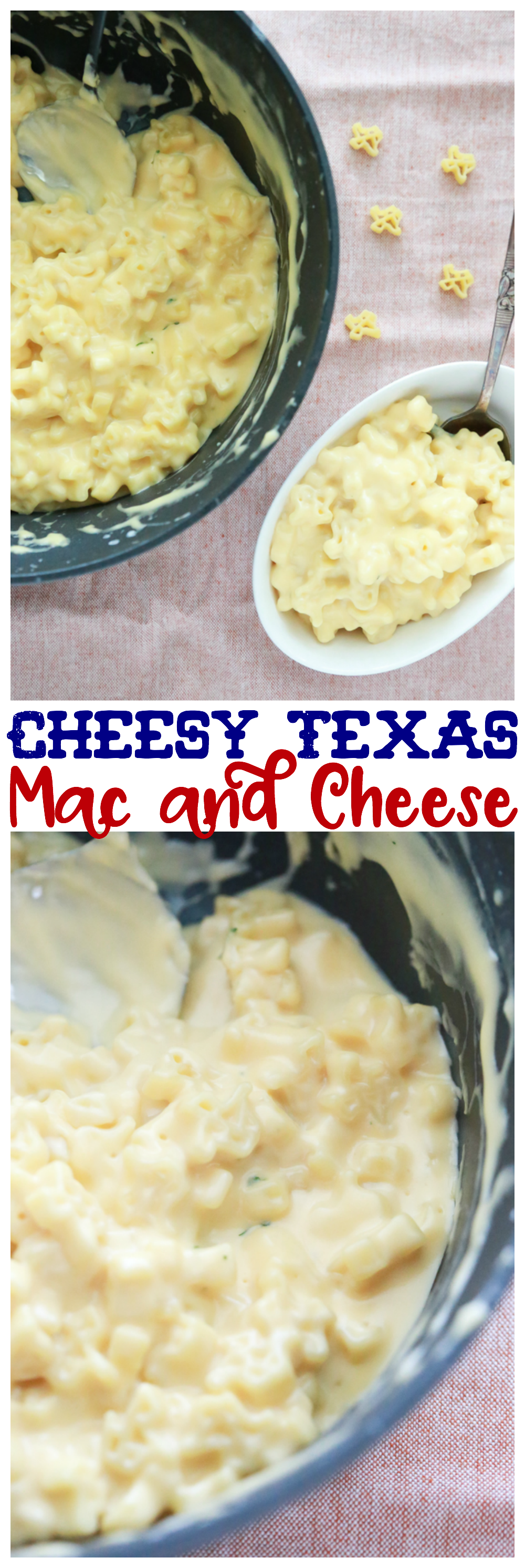 Texans are proud and one way we show our pride is through ALL THE THINGS Texas-shaped. Check out this delicious recipe for Cheesy Texas Mac and Cheese.