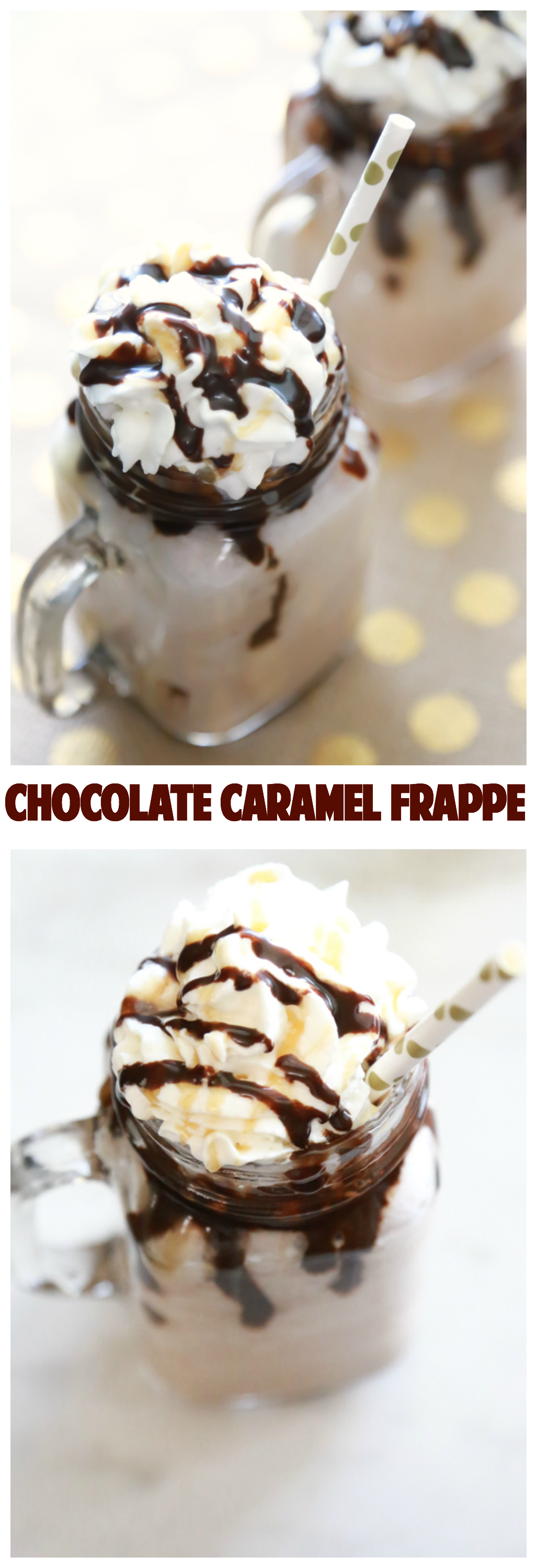 Skip the expensive coffeehouse favorites when you can make your own at home. This chocolate Caramel Frappe recipe makes a delicious, cold drink perfect for a hot summer day.