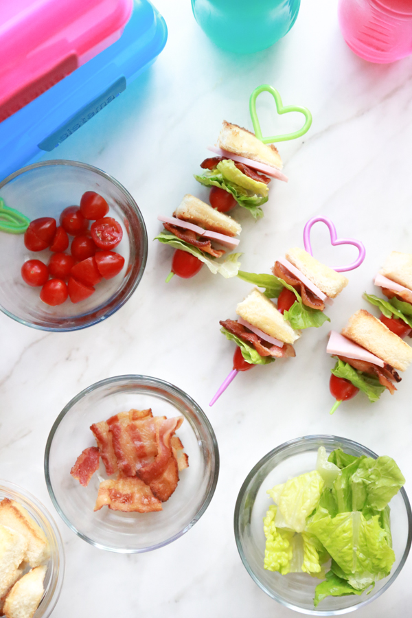 School lunches don't have to be boring. Include these Ham BLT Kabobs in your child's lunchbox!