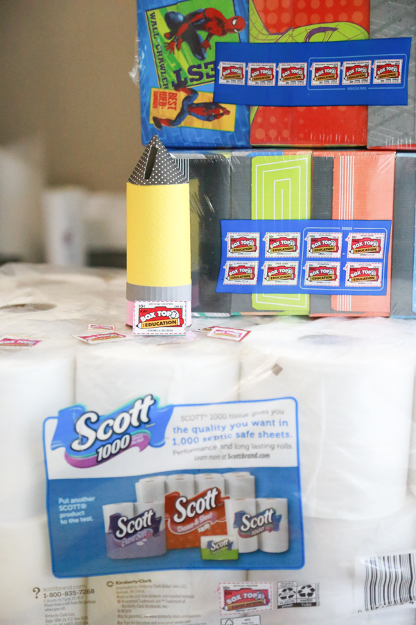 Hold all those Box Tops in this Pencil Shaped Box Tops Collector. Make it with items you already have laying around your house!