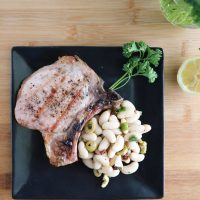 Grilled Pork Chops with Tuscan Bean Salad