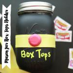 Mason Jar Box Tops Holder