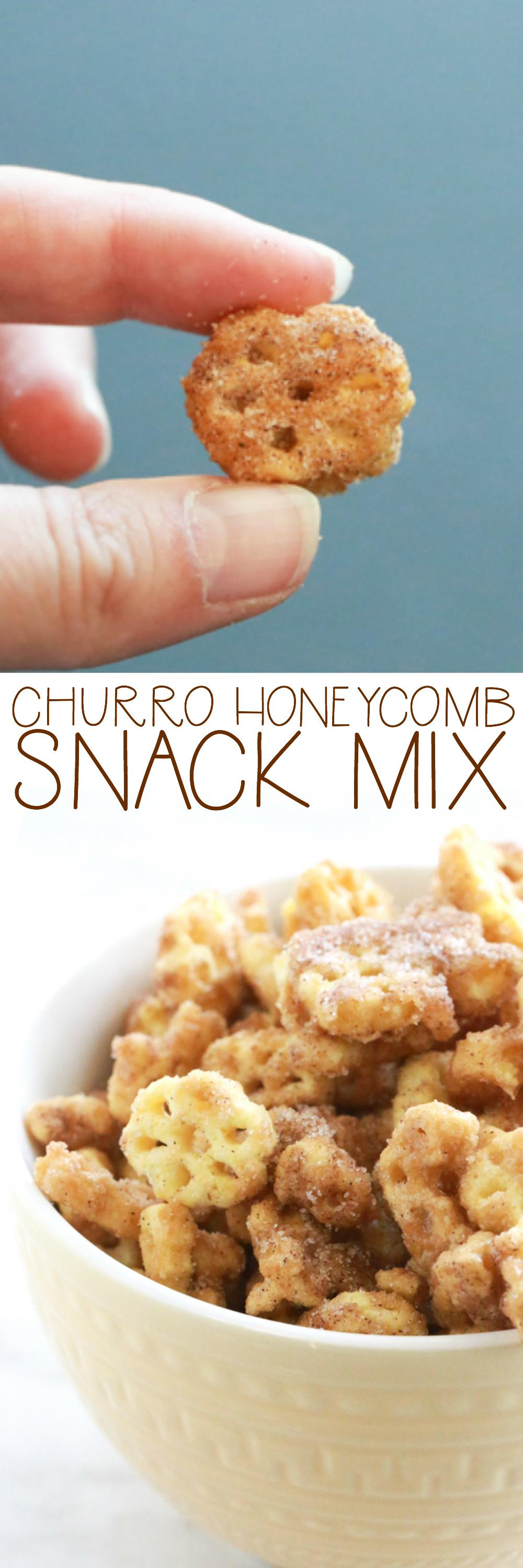 churro honeycomb snack mix
