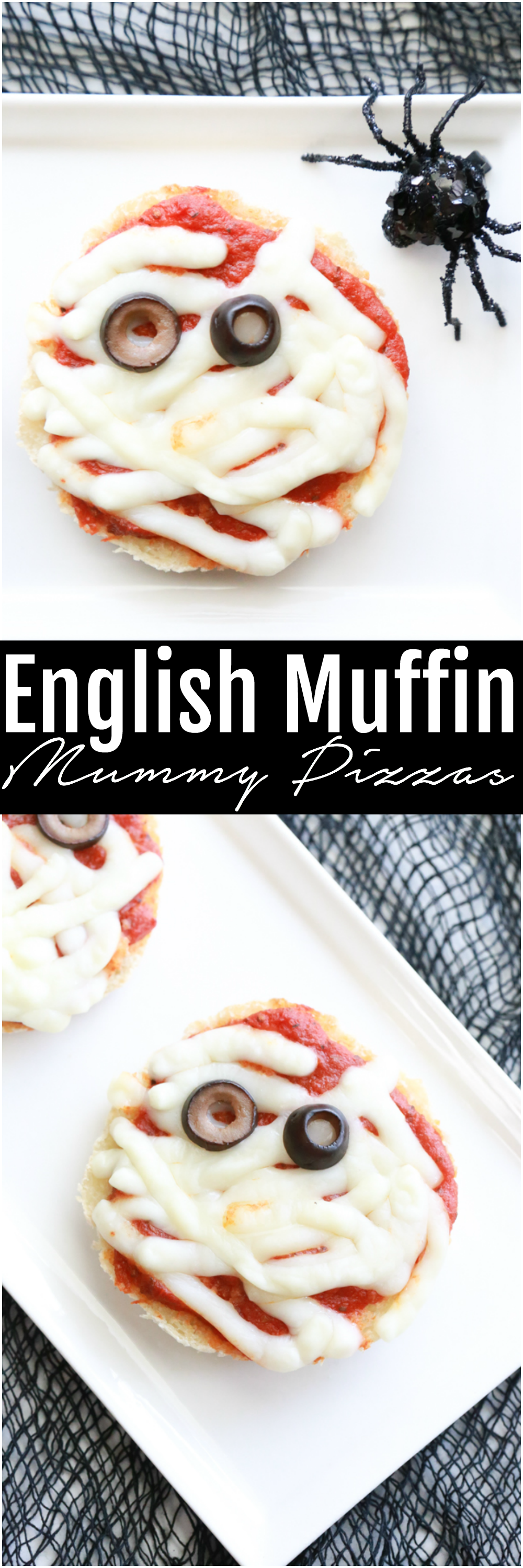 English Muffin Mummy Pizzas