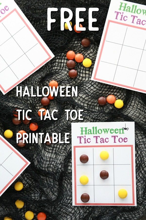free halloween tic tac toe printable