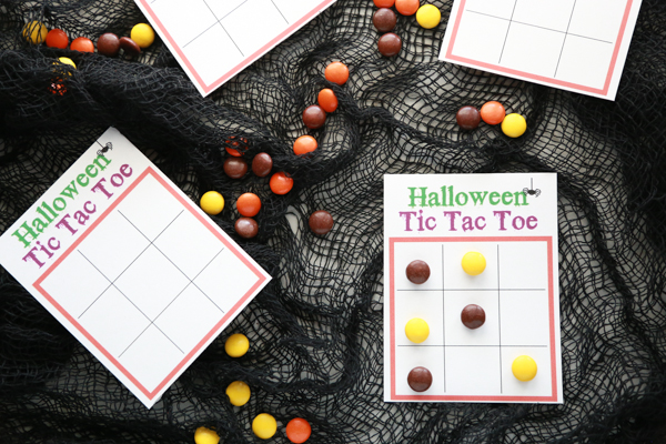 free halloween tic tac toe printable
