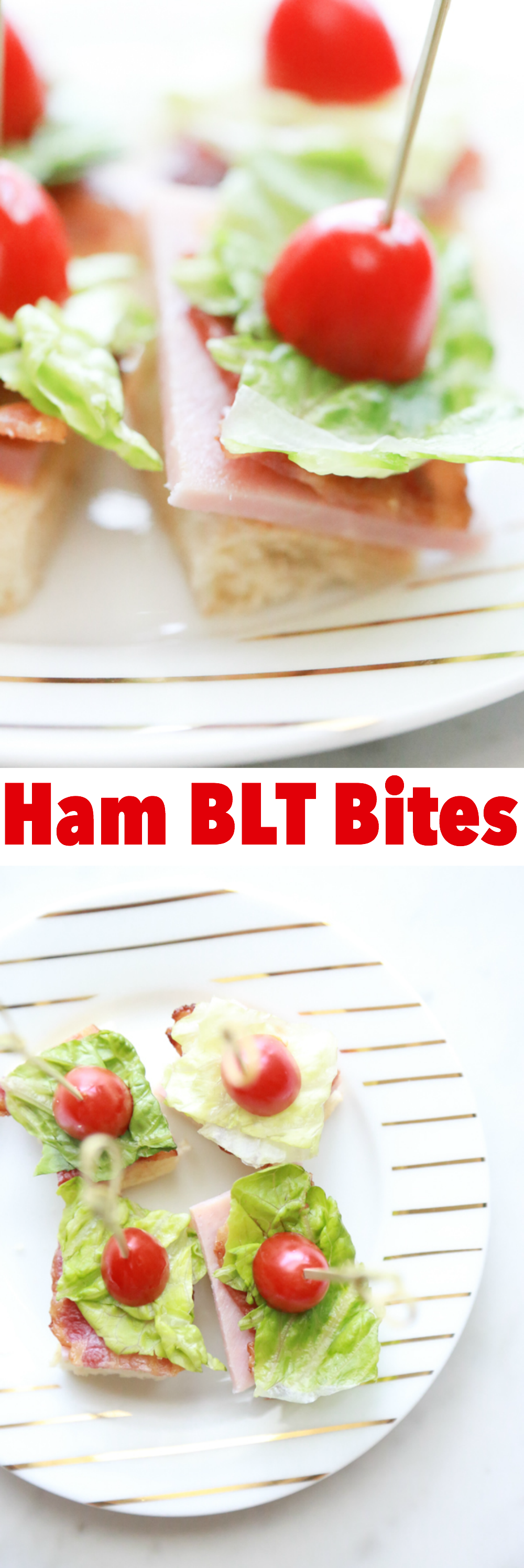 Whether your celebrating your favorite team or your favorite person, these Ham BLT Bites are perfect for any occasion.