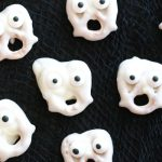 Mini Ghost Pretzels
