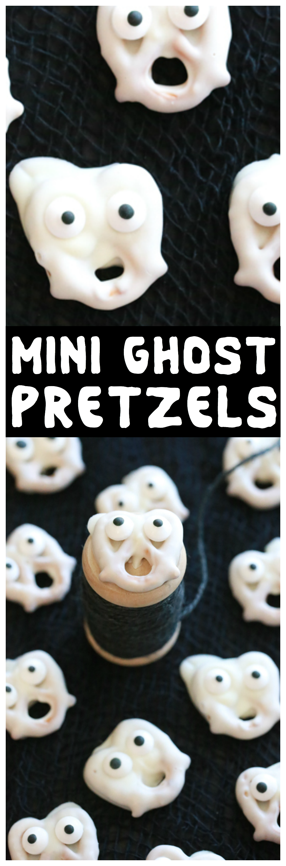 Turn ordinary pretzels into these spooky Mini Ghost Pretzels using just three ingredients. They're so easy to make it's almost scary!